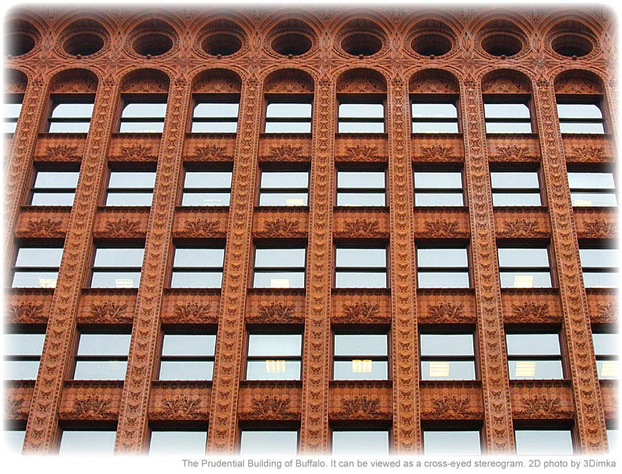 Stereogram by 3Dimka: Building in Buffalo, NY. Tags: shapes, crosseyed, hidden 3D picture (SIRDS)