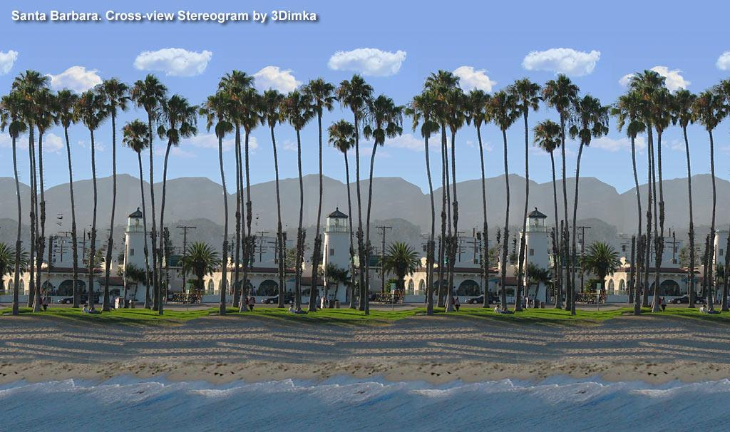 Stereogram by 3Dimka: Santa Barbara (Cross-eyed). Tags: crosseyed, oas, hidden 3D picture (SIRDS)