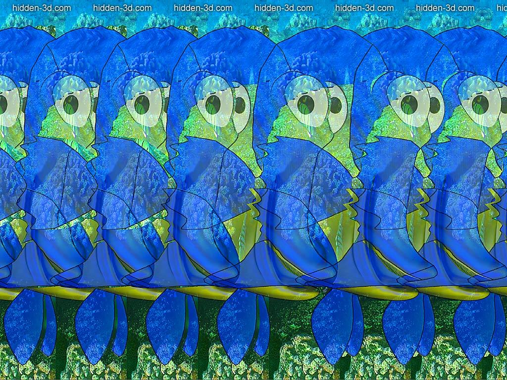 Stereogram by 3Dimka: Fish (Cross-eyed). Tags: crosseyed, fish, ocean, hidden 3D picture (SIRDS)