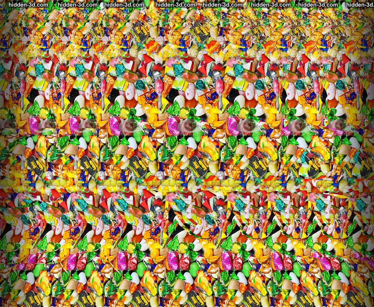 Stereogram by 3Dimka: April fool Crosseyed version. Tags: boy face tongue funny silly, hidden 3D picture (SIRDS)