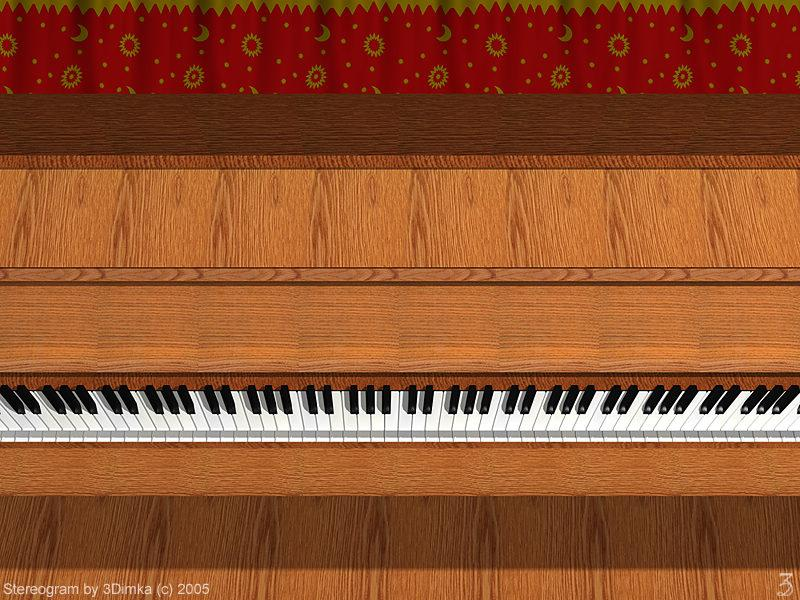 Stereogram by 3Dimka: 3D Piano. Tags: music, OAS, piano, hidden 3D picture (SIRDS)