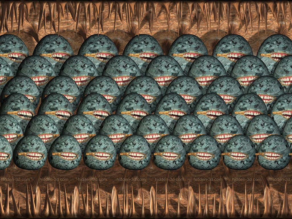 Stereogram by 3Dimka: Freedom of Speech 2. Tags: teeth, spiky, ball, OAS, hidden 3D picture (SIRDS)