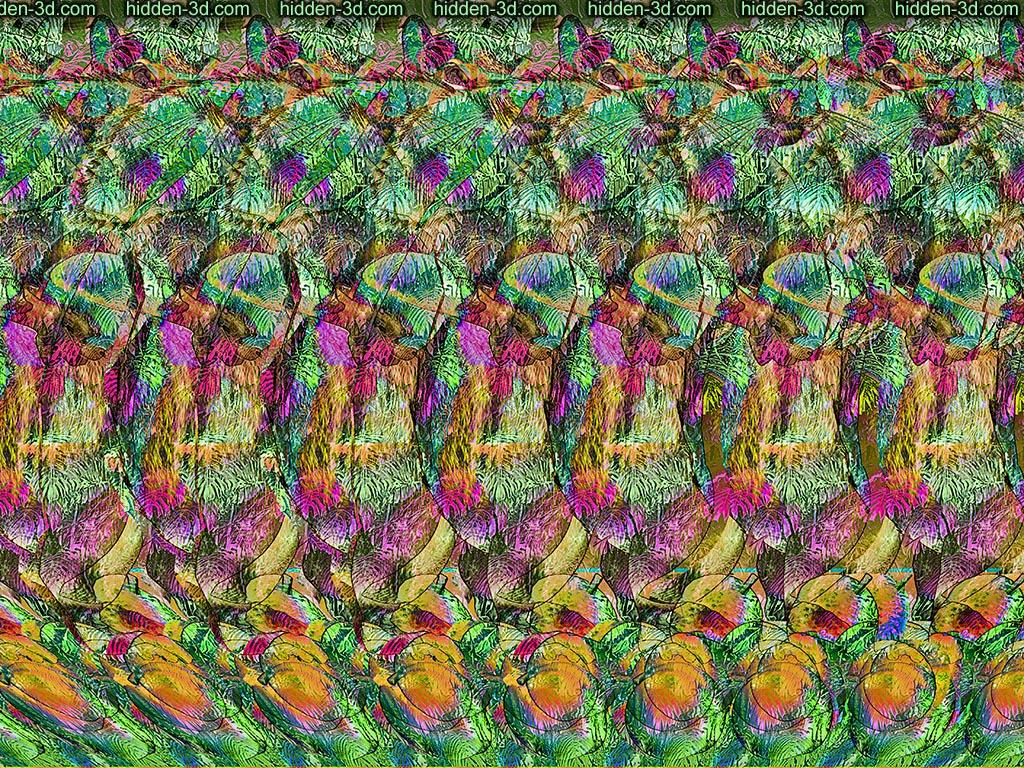 Stereogram by 3Dimka: Psyconuts. Tags: squirrel, nuts, hidden 3D picture (SIRDS)