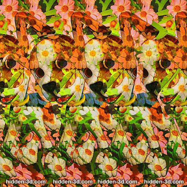 Stereogram by 3Dimka: Best Friend. Tags: dog puppy cartoon, hidden 3D picture (SIRDS)