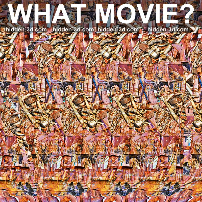 Stereogram by 3Dimka: Guess the movie. Tags: puzzle, hidden 3D picture (SIRDS)