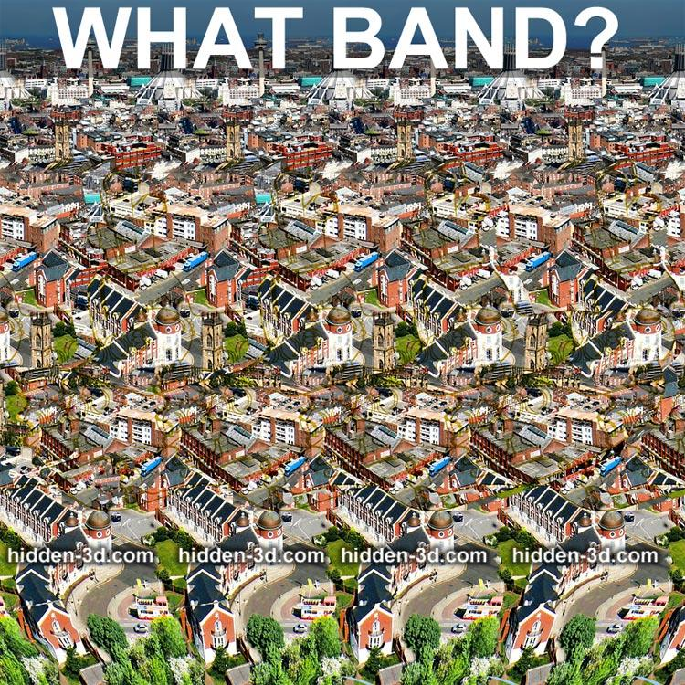 Stereogram by 3Dimka: Guess the band. Tags: band yellow submarine beatles puzzle trivia , hidden 3D picture (SIRDS)