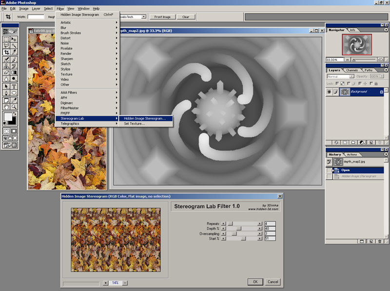 Stereogram Lab Filter Render Dialog