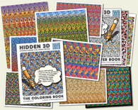 Stereogram Posters and Coloring Pages